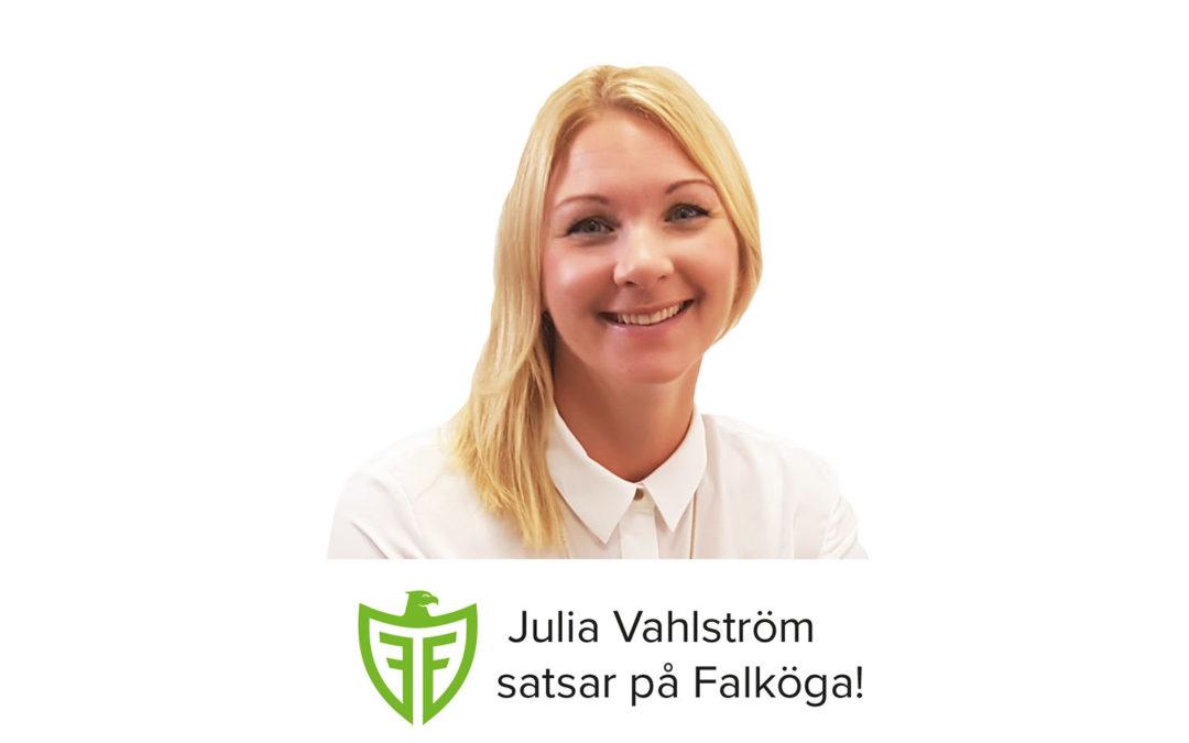 Falköga expanderar – Julia Vahlström är höstens tredje rekrytering