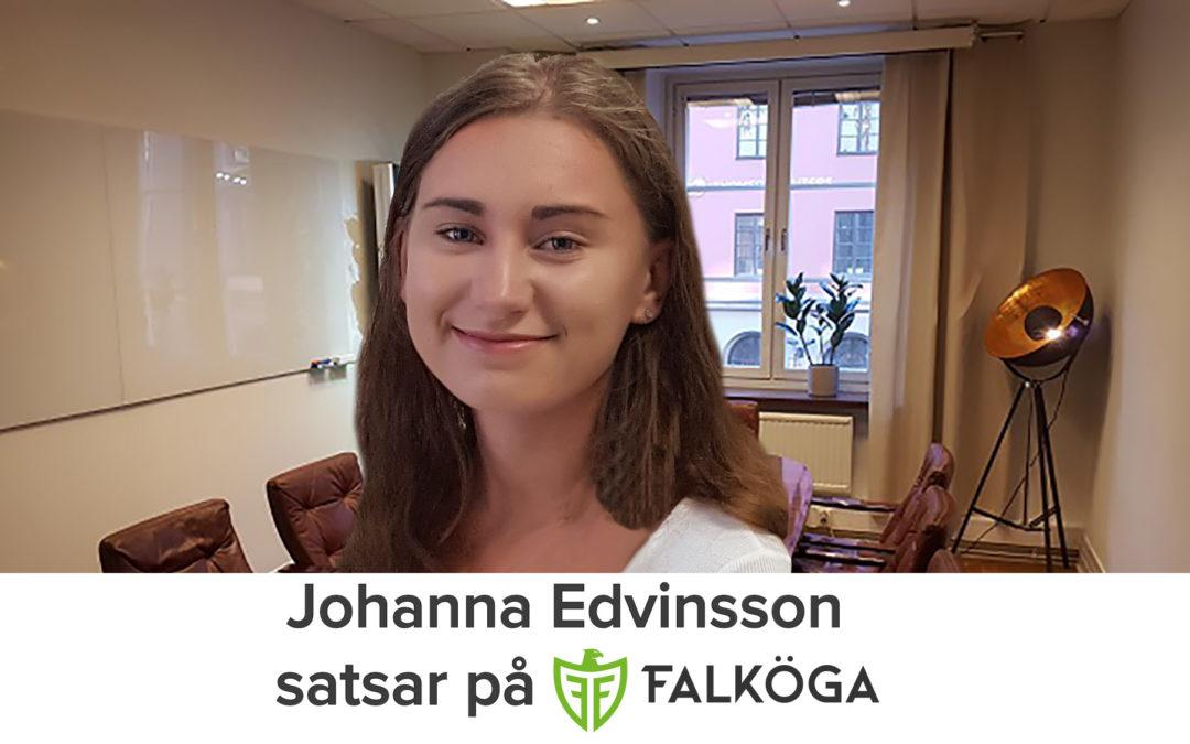 Höstens andra rekrytering – Välkommen Johanna Edvinsson